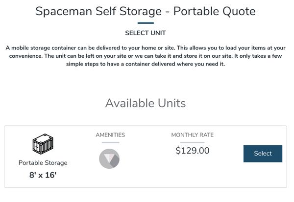 Spaceman Self Storage Portable Storage Rental Process