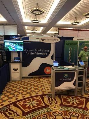 New StoragePug booth at SSA Vegas 2018