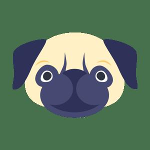 New StoragePug logo head