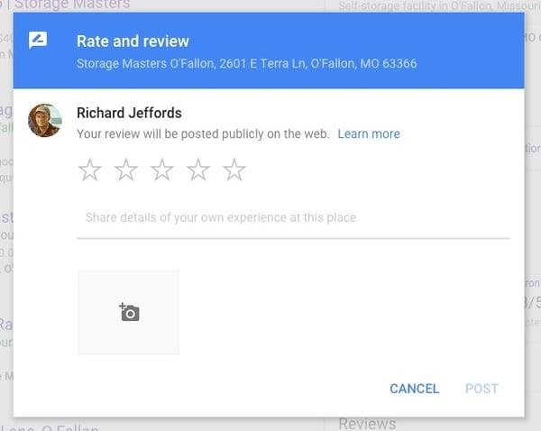 Google Review Modal