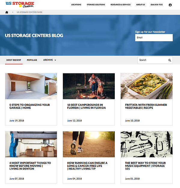 US Storage Centers has a great blog on their site.