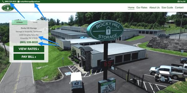 Rocky Hill Storage above the fold