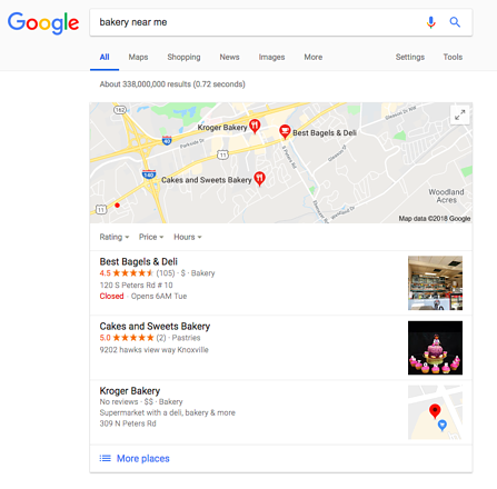 Google 3 Pack Example