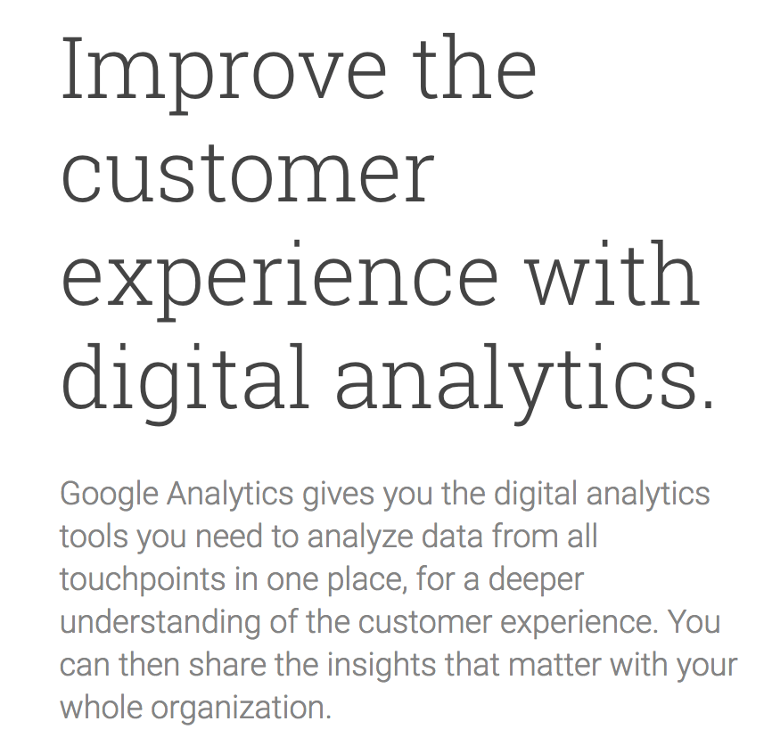 Google Analytics Blurb