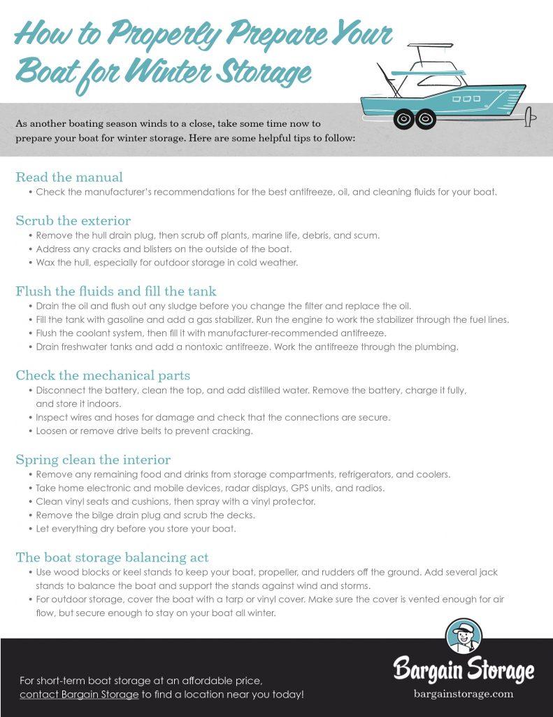 boat storage checklist