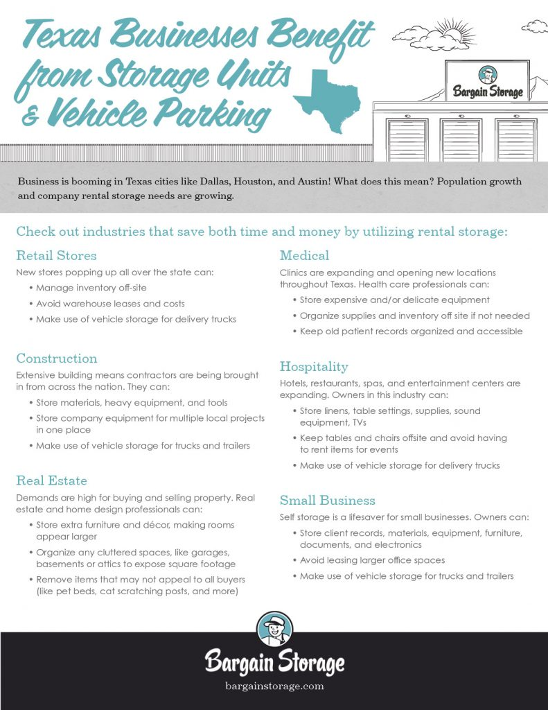 Storage Units and Vehicle Parking Business Use Benefits Checklist
