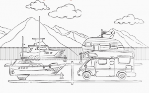 boat and rv storage animated photo