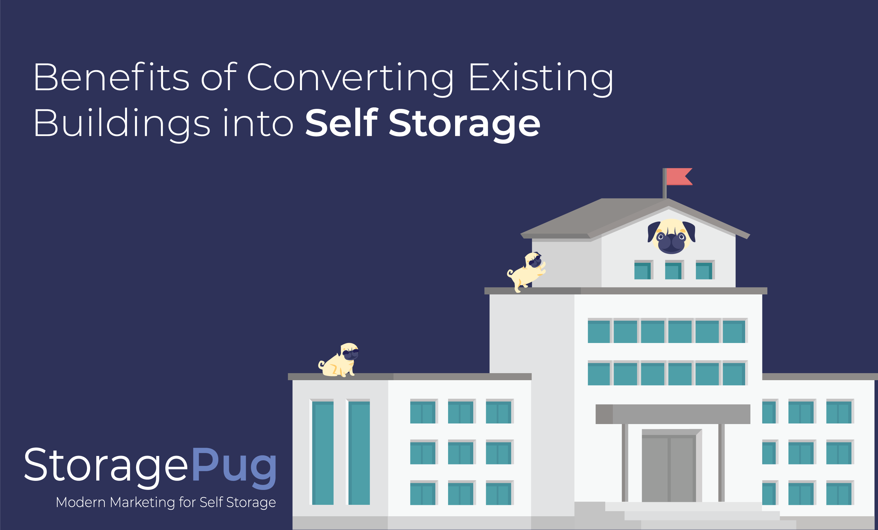 Converting a large building or warehouse into a storage facility can save you time and money.